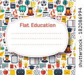 flat education background.... | Shutterstock .eps vector #182086994