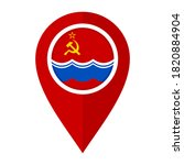 flat map marker icon with state ...   Shutterstock .eps vector #1820884904