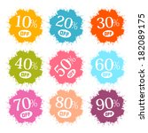 colorful discount labels ... | Shutterstock .eps vector #182089175
