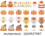 this is a set of halloween... | Shutterstock .eps vector #1820927987