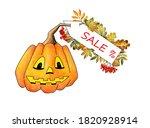 Halloween Pumpkin And Autumn...