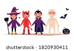 Happy Halloween. Set Of Cute...