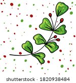 Holly Leaves Decoration With...