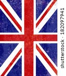 union jack flag background with ... | Shutterstock .eps vector #182097941