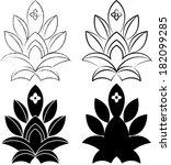 flowers set. vector illustration | Shutterstock .eps vector #182099285
