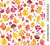 Autumn Seamless Pattern. Autum...