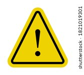 yellow caution sign or alert... | Shutterstock .eps vector #1821019301