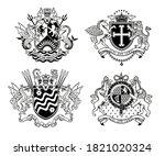 vintage heraldic coats of arms. ... | Shutterstock .eps vector #1821020324