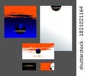 design template for invitation  ... | Shutterstock .eps vector #1821021164