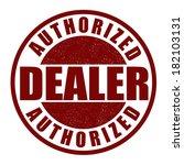 authorized dealer grunge rubber ...   Shutterstock .eps vector #182103131
