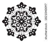 floral vintage ornate element... | Shutterstock .eps vector #1821040097