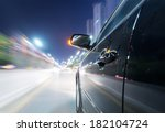 car on the road with motion... | Shutterstock . vector #182104724