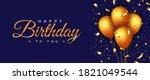 happy birthday holiday design... | Shutterstock .eps vector #1821049544