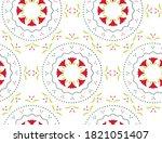 elegant abstract seamless... | Shutterstock .eps vector #1821051407
