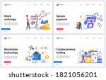 blockchain cryptocurrency stock ... | Shutterstock .eps vector #1821056201