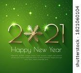 happy new year 2021 text design....   Shutterstock .eps vector #1821060104