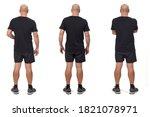 rear view of a same man wearing ... | Shutterstock . vector #1821078971