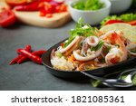 Spicy Mixed Seafood Salad With...