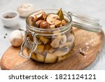 Pickled Mushrooms In A Glass...