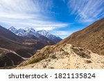 view on the way to everest base ... | Shutterstock . vector #1821135824