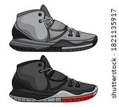 fashion basketball shoes ... | Shutterstock .eps vector #1821135917