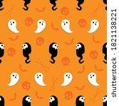 abstract seamless halloween... | Shutterstock .eps vector #1821138221
