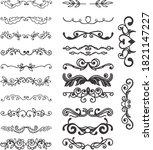 the handmade vintage line icon...   Shutterstock .eps vector #1821147227
