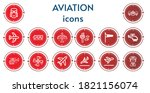 Editable 14 Aviation Icons For...