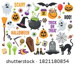set of vector characters and... | Shutterstock .eps vector #1821180854