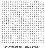 vector black 400 universal web... | Shutterstock .eps vector #182119664