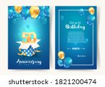 celebration of 50 th years... | Shutterstock .eps vector #1821200474