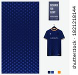 fabric pattern design. blue... | Shutterstock .eps vector #1821218144