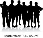vector male silhouettes | Shutterstock .eps vector #182122391