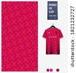 fabric pattern design. pink... | Shutterstock .eps vector #1821232727