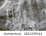 Waterfall At Mount Rainer With...