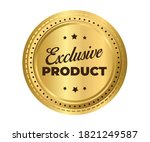 exclusive product gold vector... | Shutterstock .eps vector #1821249587