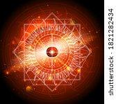 vector illustration of sacred... | Shutterstock .eps vector #1821282434