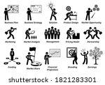 business plan stick figure... | Shutterstock .eps vector #1821283301