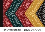 indian kurti   front side... | Shutterstock .eps vector #1821297707