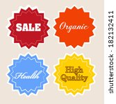 many labels to promote products ... | Shutterstock .eps vector #182132411