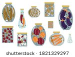 autumn harvesting and canning... | Shutterstock .eps vector #1821329297
