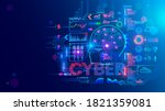 computer neural network or ai... | Shutterstock .eps vector #1821359081