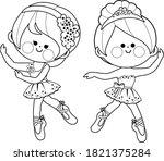little ballerinas dancing....   Shutterstock .eps vector #1821375284