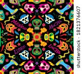Colorful Masks And Symbols For...