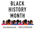 black history month vector with ...   Shutterstock .eps vector #1821439634