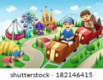 a vector illustration of kids... | Shutterstock .eps vector #182146415
