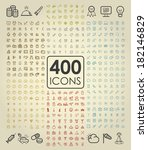 collection set of universal...   Shutterstock .eps vector #182146829