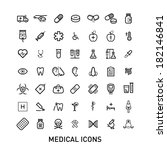 outlined medical icons set... | Shutterstock .eps vector #182146841