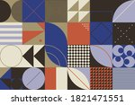 swiss design style abstract... | Shutterstock .eps vector #1821471551