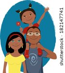 happy cartoon family portrait | Shutterstock .eps vector #182147741